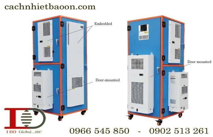 Điều hòa tủ điện, tủ điều khiển lắp cánh tủ