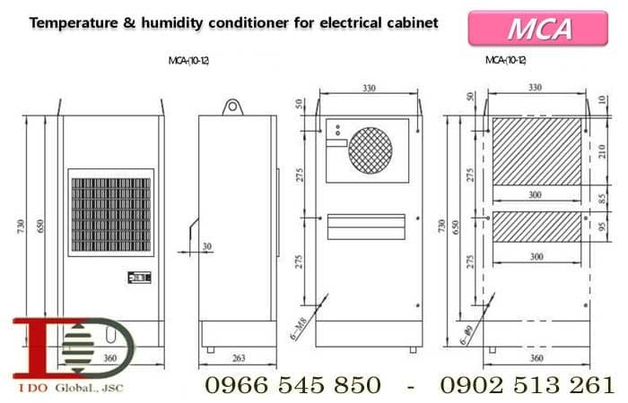 Máy điều hòa không khí cho tủ điện MCA12