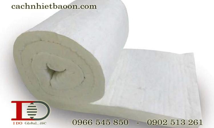 Bông gốm ceramic dạng cuộn cách nhiệt lò nung