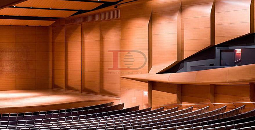 Tiêu âm hội trường bằng gỗ tiêu âm sang trọng