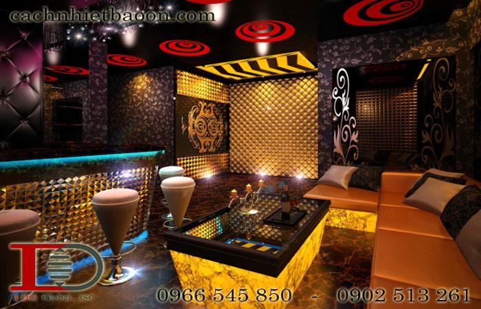 Tấm tiêu âm hoa văn polyester tiêu âm phòng Karaoke