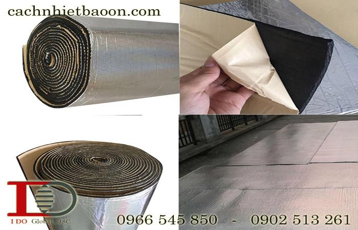 Cấu tạo của xốp đen bảo ôn cao su lưu hóa có bạc có keo