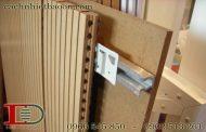 Hướng dẫn thi công gỗ tiêu âm