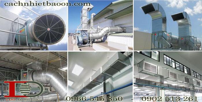 Chống nóng nhà xưởng bằng hệ thống ống gió