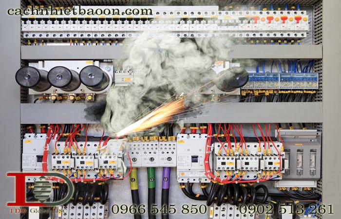 Tủ điện công nghiệp quá nóng có thể bị chập cháy